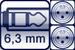 Klinkenbuchse 3p.<br>2x XLR male