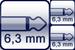 Klinke 2p.<br>2x Klinke 2p.