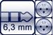 Klinke 3p.<br>2x XLR male