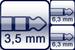 Mini-Klinke 3p.<br>2x Klinke 2p.