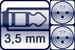 Mini-Klinken-Buchse 3p.<br>2x XLR male