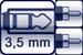 Mini-Klinken-Buchse 3p.<br>2x Cinch