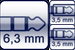 Klinke 3p.<br>2x Mini-Klinkenbuchse 3p.