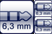 Klinke 3p. 6,3mm<br>2x Klinkenbuchse 2p. 6,3mm
