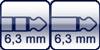 Klinke 3p. 6,3mm<br>Klinke 2p. 6,3mm