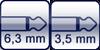 Klinke 2p. 6,3mm<br>Klinke 2p. 3,5mm