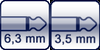 Klinke 2p. 6,3 mm<br>Klinke 2p. 3,5 mm