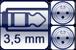 Mini-Klinkenbuchse<br>2x XLR 3p. male